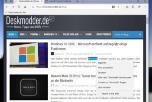 Search Context – Mit zweiter Suche Wörter im Web suchen als Erweiterung für den Microsoft Edge