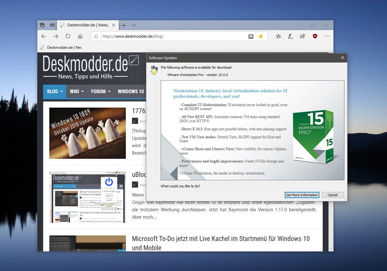 VMware Workstation (Player) 15 steht nun bereit | Deskmodder de