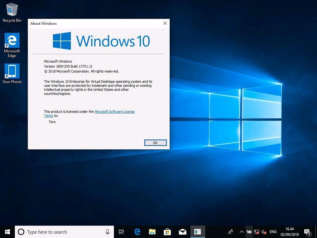 windows 10 neuer desktop