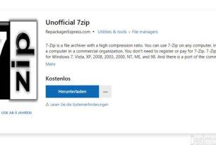 7zip als App im Microsoft Store [Update]