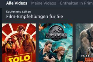 Amazon Prime Video: Android-App mit Design-Aktualisierung