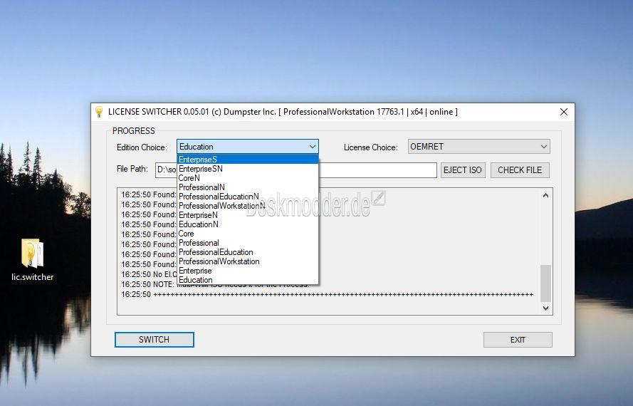 License Switch - Windows 10 Versionswechsel mit einem kleinen Tool