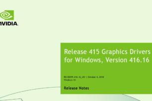 Nvidia Geforce 416.16 WHQL Treiber steht bereit