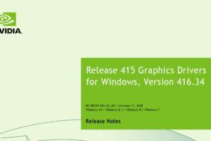Nvidia Geforce 416.34 WHQL Treiber steht zum Download bereit