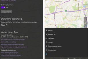 Windows 10 Mobile Karten App mit einem Update und einer Änderung