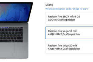 Apple – MacBook Pro mit dezidierter Radeon Pro Vega-Grafikkarte verfügbar