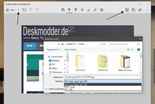 Ausschneiden und skizzieren Screenshot als jpg oder gif speichern schon jetzt nutzen