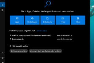 Windows 10: Microsoft testet leicht verändertes Cortana-Design