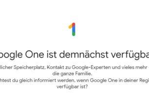 Google One ersetzt Google Drive in den nächsten Wochen