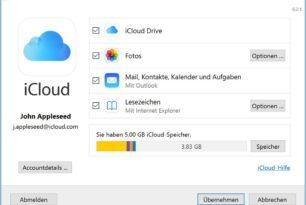 iCloud für Windows 7.8.1 behebt das Upgradeproblem auf die Windows 10 1809
