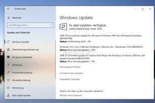 KB4467708 Windows 10 17763.134 (Manueller Download) + KB4465664 als SSU 13.11.2018