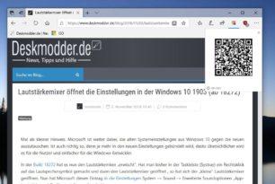 .QR Code for Microsoft Edge – Webseiten auf mobilem Gerät weiterlesen