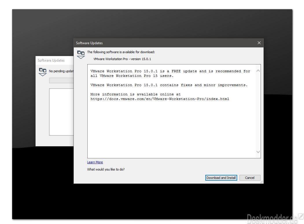 VMware Workstation 15 0 1 Pro und Player behebt