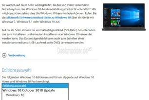 Das neue MCT Windows 10 1809 ist da – Aktualisierte ISO herunterladen