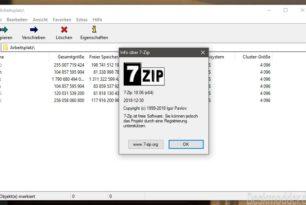 7-Zip 18.06 steht zum Download bereit