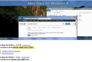 Aero Glass 1.5.10 nun auch für Windows 10 1809 (Oktober 2018 Update)