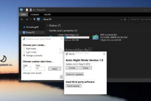 Auto-Night Mode – Windows 10  dunklen oder hellen Modus zu einer bestimmten Zeit starten