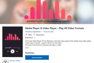 Media Player & Video Player – Play All Video Formats als App im Microsoft Store