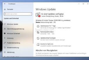 Windows 10 18298 1903 (19H1) steht für die Insider bereit