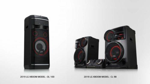 ces 2019 lg pr sentiert neue xboom lautsprecher. Black Bedroom Furniture Sets. Home Design Ideas