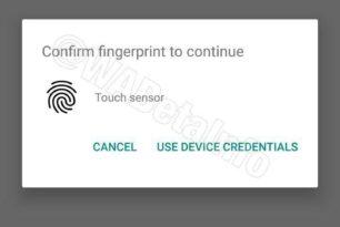 WhatsApp: Unterstützung für die Authentifizierung per Fingerabdruck in Arbeit