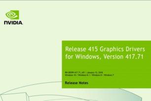GeForce 417.71 WHQL Game Ready Treiber steht zum Download bereit