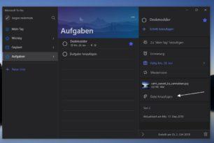 Microsoft To-Do kann nun Dateien anhängen – Windows 10 Mobile wird aufgegeben