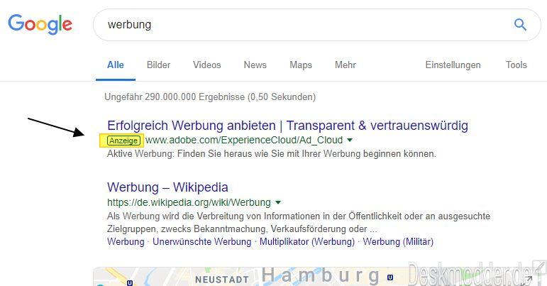 Opera zeigt Werbung auf Suchseiten obwohl ein Adblocker