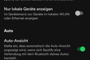 Spotify mit neuer Auto-Ansicht