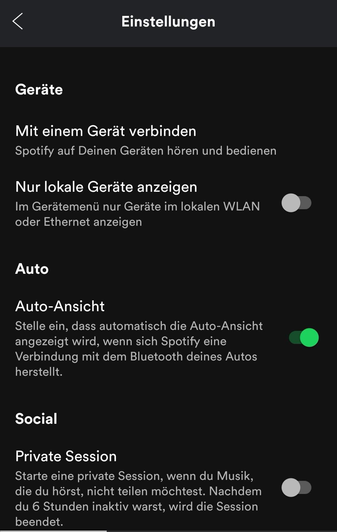 Spotify Einstellungen Android