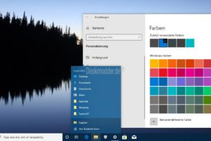Sprunglisten nun auch farbig in der Windows 10 1903