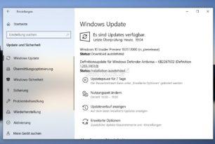 Windows 10 18317 steht für die Insider bereit