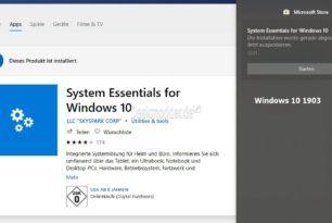 An Start anheften wird nach der Installation aus der Benachrichtigung entfernt Windows 10 1903