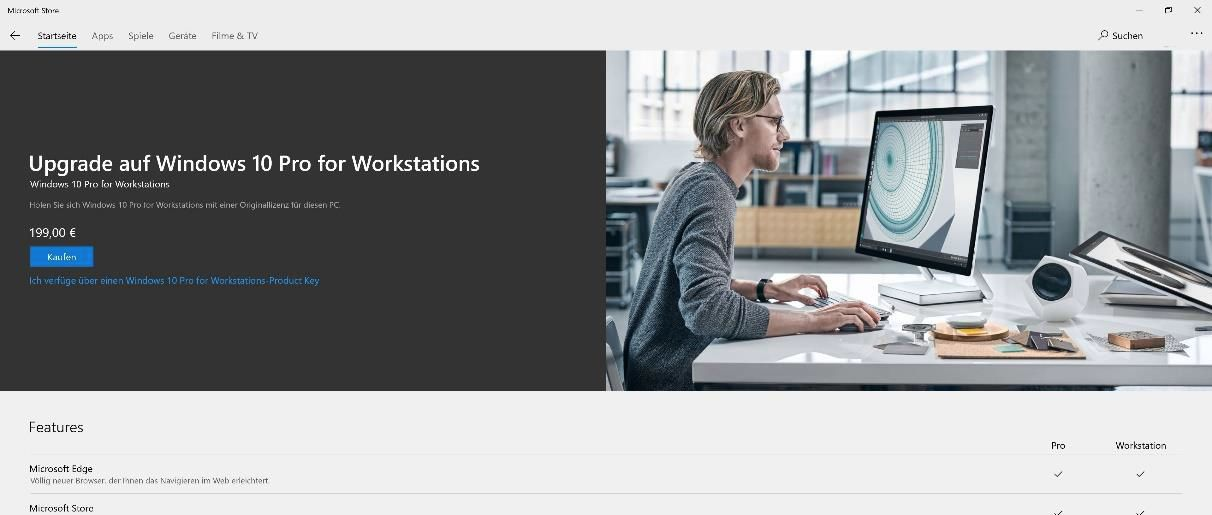 Windows 10 Pro for Workstations für HighEnd- und Serverhardware