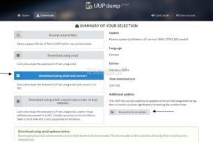 UUP dump – Ältere, Insider oder aktuelle Windows 10 ISO herunterladen