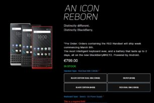 BlackBerry KEY2 Red gleich mal locker 100 Euro teurer