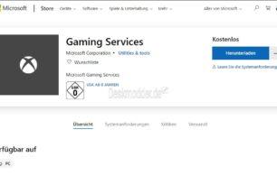 Gaming Services App installiert zwei neue Dienste unter Windows 10 für die Xbox Dienste