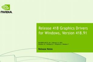 GeForce 418.91 Treiber steht zum Download bereit
