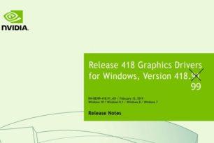 GeForce Hotfix Treiber 418.99 für Windows 7 und 8.1