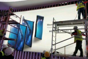 Huawei Mate X foldable Smartphone geleakt