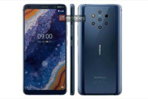 Nokia 9 PureView: Neue Render-Bilder zeigen 5fach Rückseitenkamera & Fingerabdrucksensor im Display