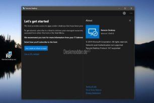 Remote Desktop Preview 1.0.41.0 als msi Installer