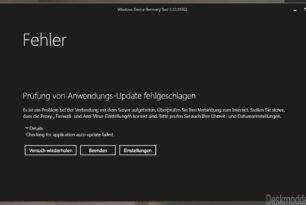 Windows Device Recovery Tool (WDRT) derzeit mit Serverfehler (erledigt)
