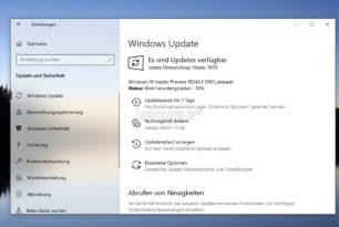 Windows 10 18343 steht für die Insider im Fast Ring bereit