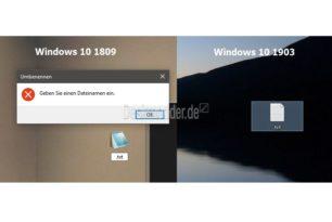 Windows 10 1903 erlaubt Dateien ohne Namen zu erstellen, die nur mit Punkt beginnen für den Dateityp