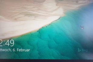 Windows Blickpunkt: Bing Bild mit Wasserzeichen – Ein versehen, oder wird dies nun so umgesetzt?