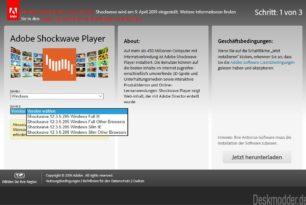 Adobe Shockwave Player 12.3.5.205 – Letzte Version, bevor er eingestellt wird