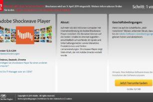 Adobe Shockwave Player wird zum 9.April eingestellt – Kein Download mehr möglich