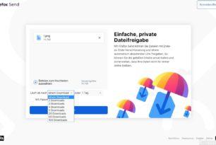 Firefox Send – Kostenlose und verschlüsselte Dateiübertragung von Mozilla gestartet