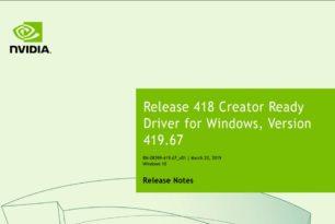 Nvidia Creator Ready 419.67 WHQL  Treiber wurde  bereitgestellt
